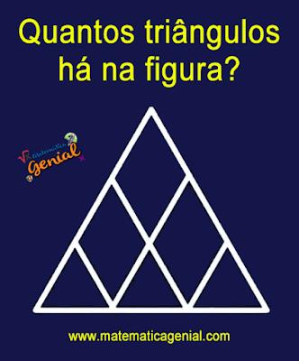 Quantos triângulos há na figura? Triângulos ou losango?