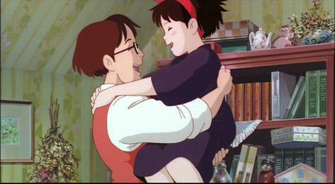 Father and Kiki Kiki's Delivery Service 1989 animatedfilmreviews.filminspector.com