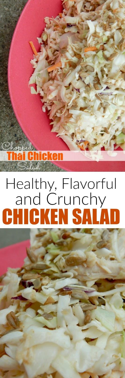 Chopped Thai Chicken Salad...a crunchy, flavorful, light and tasty salad! (sweetandsavoryfood.com)