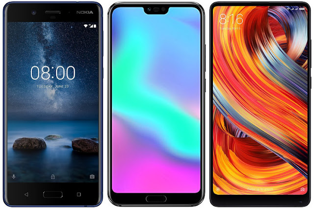 Nokia 8 vs Honor 10 vs Xiaomi Mi Mix 2