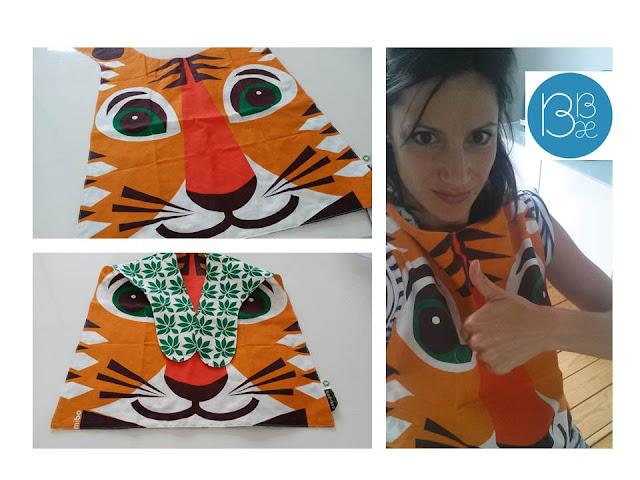 Coq en Pate Editions bavoir tigre éthique