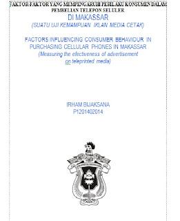 """DOWNLOAD THESIS ILMU KOMUNIKASI  """"FAKTOR-FAKTOR YANG MEMPENGARUHI PERILAKU KONSUMEN DALAM PEMBELIAN TELEPON SELULER"""""""