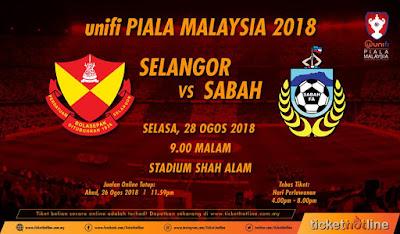 Live Streaming Selangor vs Sabah Piala Malaysia 28.8.2018