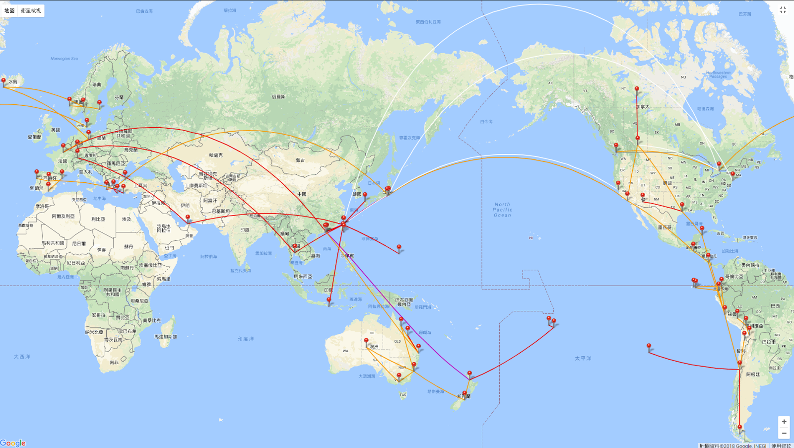 完美的飛行紀錄工具 my flightradar24