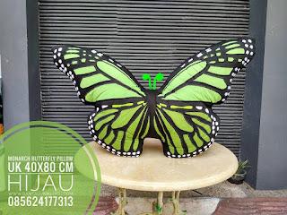 Green Butterfly Pillow