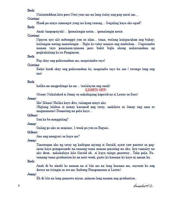 script sample tagalog