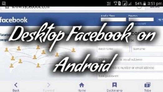How to use desktop facebook on android