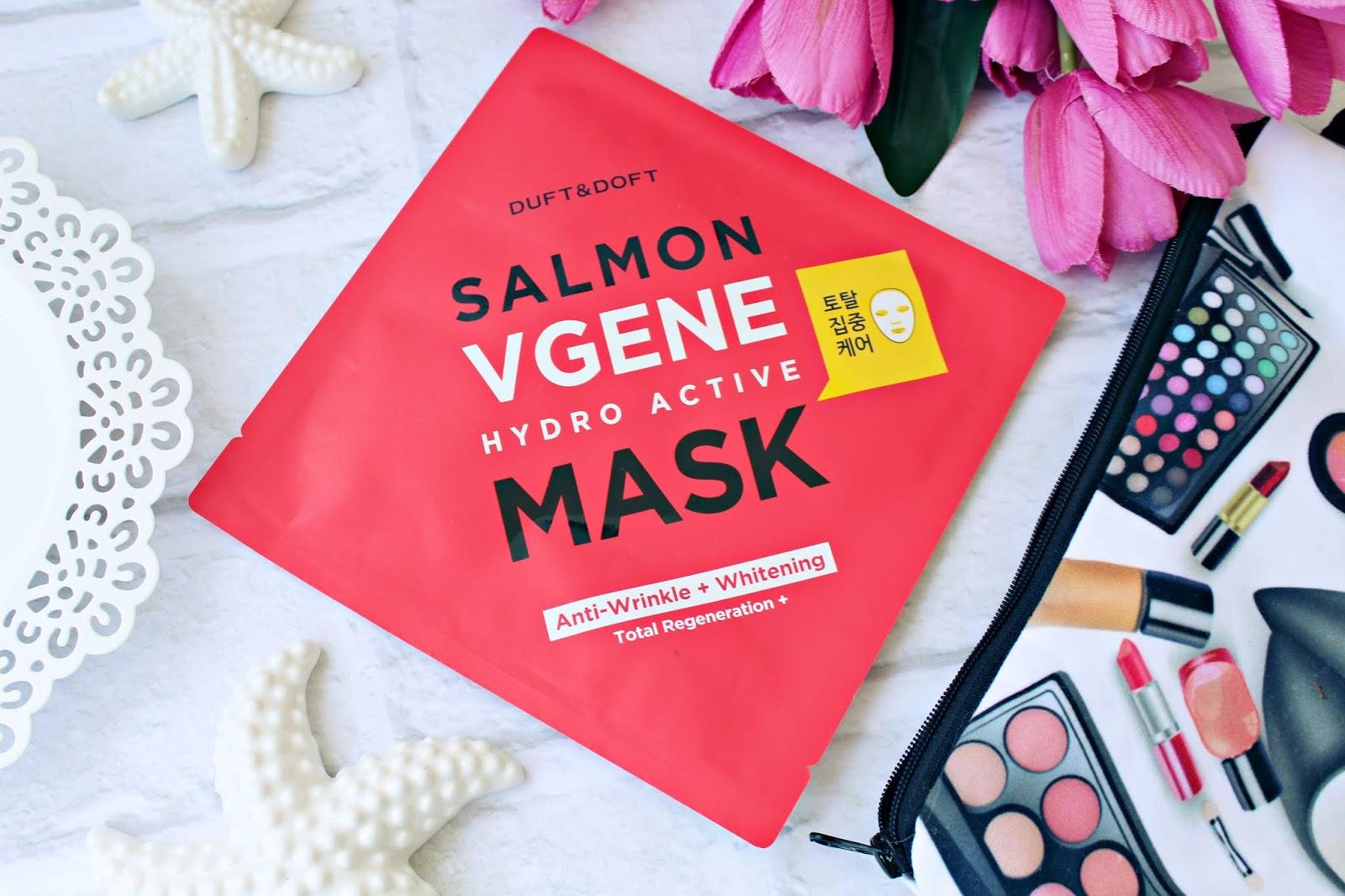 Odmładzająca maska w płachcie Salmon Vgene Hydro Active Mask Duft & Doft - HIT W KOREAŃSKIEJ PIELĘGNACJI!