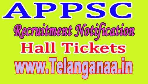 APPSC 2018 Group I Services Limited / General Recruitment Hall Tickets