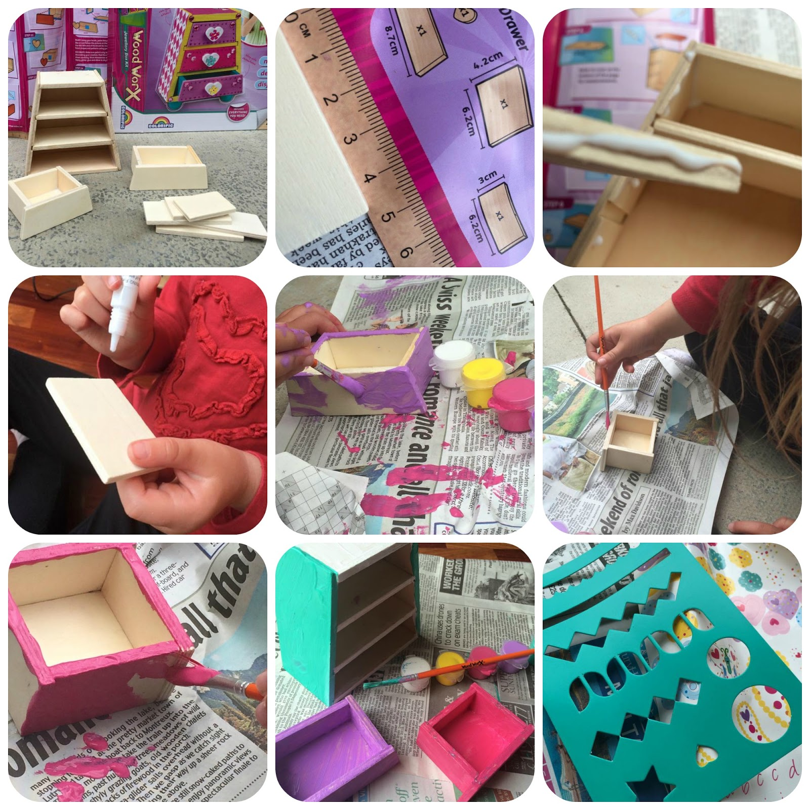 My Mummys Pennies Wood Worx Jewellery Box Kit Review and Giveaway