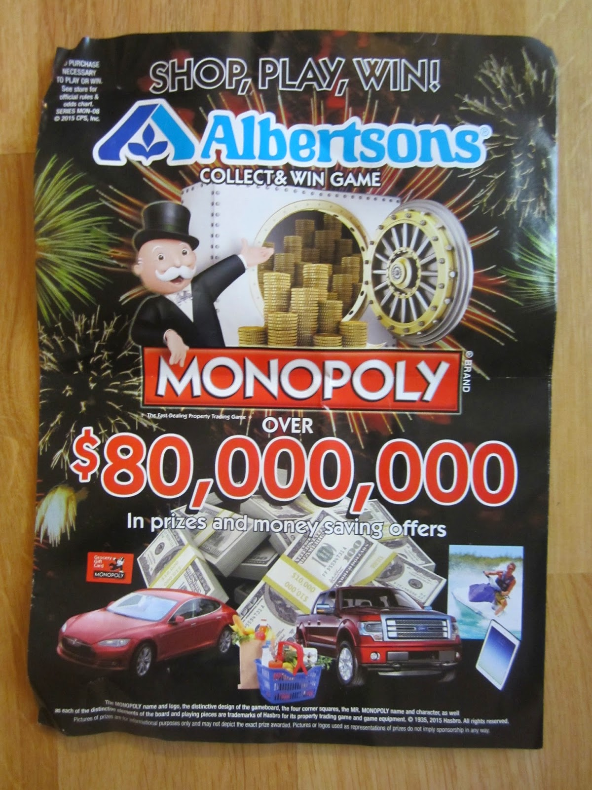 writing anything albertsons monopoly shop play win spring