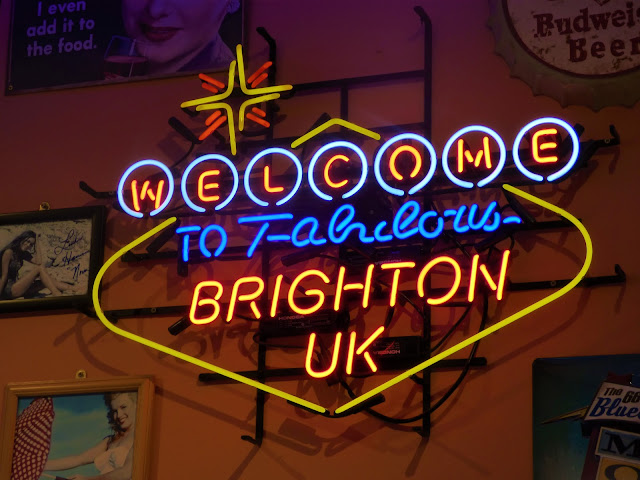 Neon sign in JBs Diner, Brighton