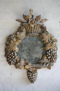 Antique Carved Mirror (17th Century), image via the Garnier (be) website as seen on linenandlavender.net