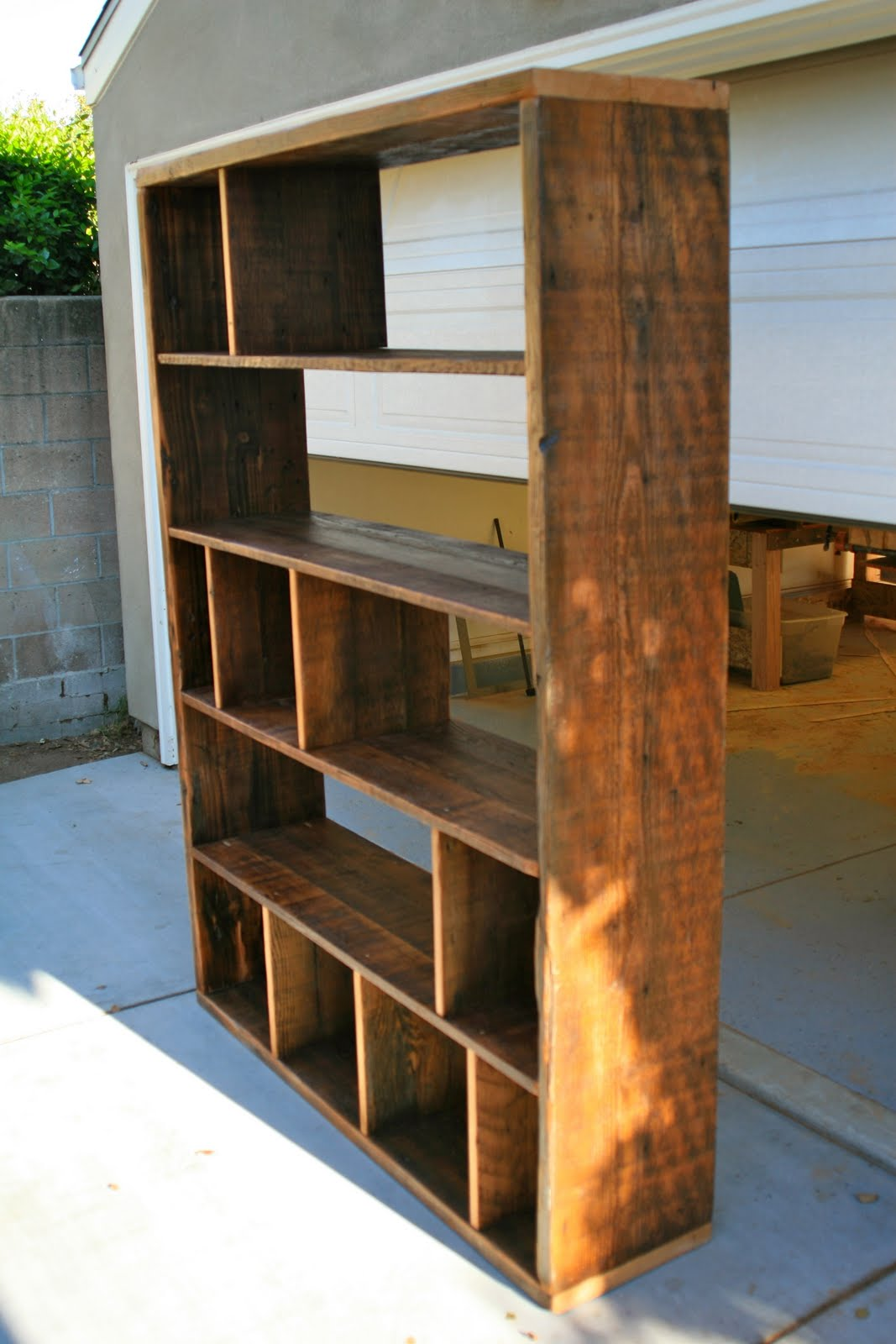 Timber Bookcase: Reclaimed Wood Furniture: Bookcase