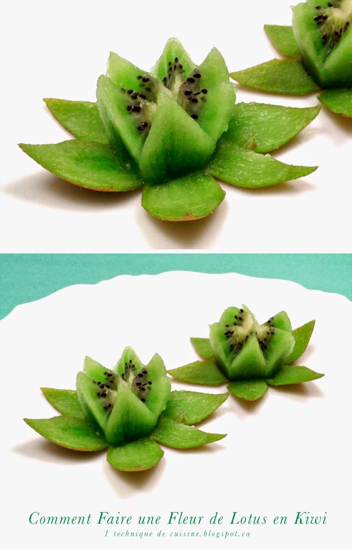 1 sculpture de fruit et l gume comment faire une fleur de lotus en kiwi how to make a lotus - Faire une fleur ...