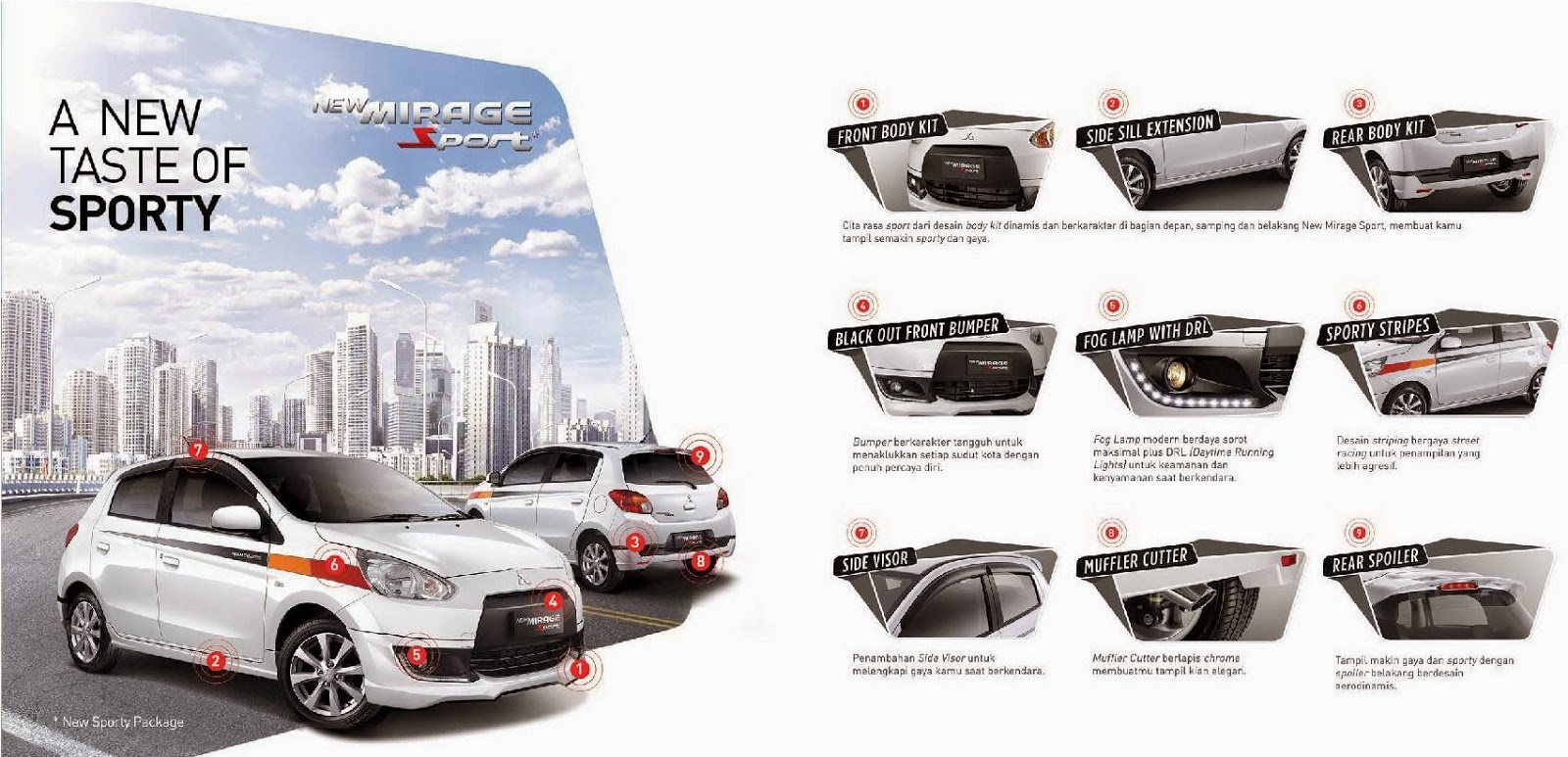 model Mobil Mitsubishi New Mirage Sport 2015