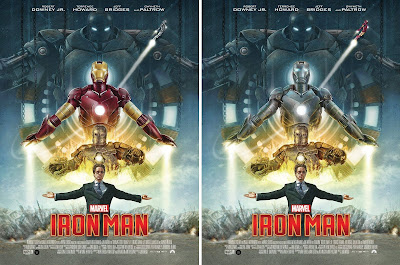 Iron Man Movie Poster Giclee Print by Neil Davies x Grey Matter Art