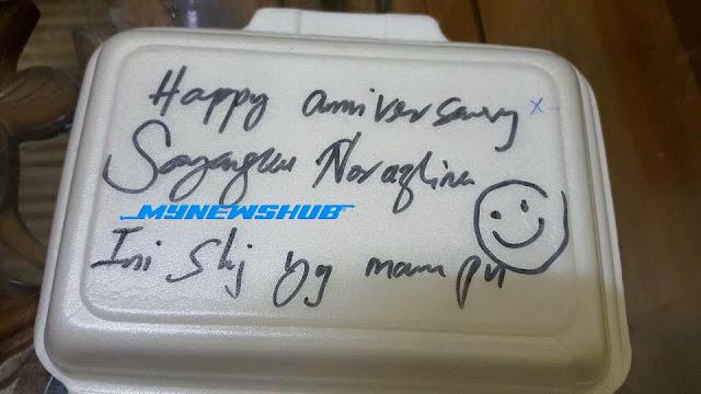 """""""Happy Anniversary Sayangku, Ini Sahaja Yang Mampu"""""""