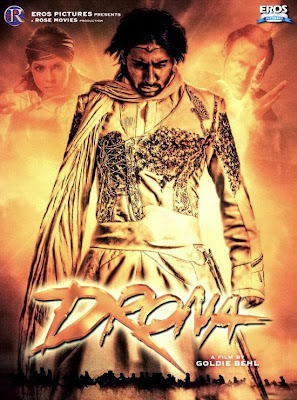 Poster Of Bollywood Movie Drona (2008) 300MB Compressed Small Size Pc Movie Free Download worldfree4u.com