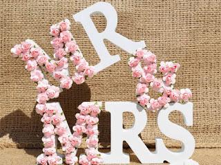 Mr & Mrs Flower 3D sign