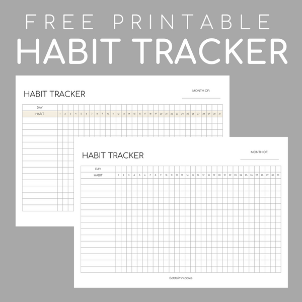 photograph about Monthly Habit Tracker Printable named Printable Behavior Tracker