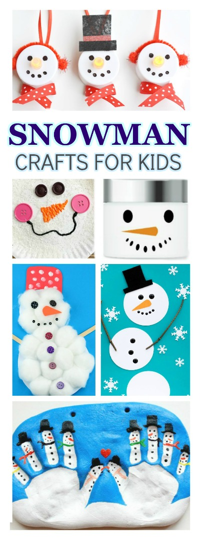 Do you want to build a snowman?  Here are 65 fun ways the kids will love! #snowmancrafts #wintercrafts #wintercraftsforkids