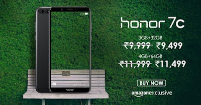 Honor 7C gets Rs 500 price drop in India