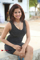 Actress Model Sravani Cute Stills in Silver Tight Short Dress at Pochampally IKAT Art Mela 2017 Launch  0018.jpg