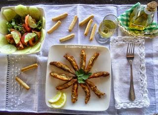 Boquerones adobados y fritos