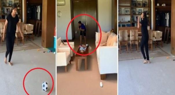 Terkejut TMJ Bila Gaya Free Kick Isteri Dia Sebijik Macam Pemain Bola Sepak Australia Dan Tiba Tiba TMJ Menjerit