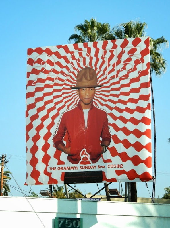 Pharrell Williams Grammys 2015 billboard