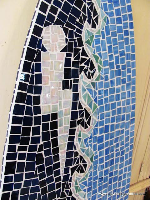 mosaic surfboard art