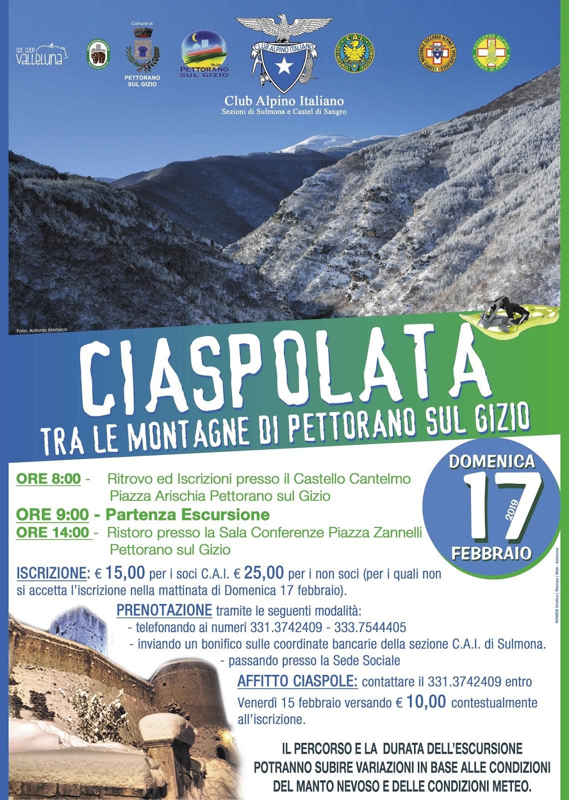 CENTROABRUZZONEWS  LA SEZIONE DI SULMONA DEL CLUB ALPINO ITALIANO ... c411099ba154