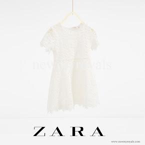 Princess Alexia wore ZARA Guipure Lace dress