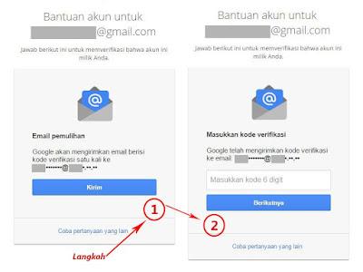 Pemulihan sandi gmail dengan email pemulihan