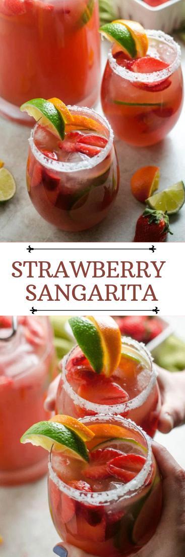 STRAWBERRY SANGARITA #cocktail #smoothie