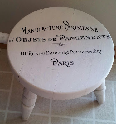 Stupendous Natural Homemade Living Decoupage Project French Stool Machost Co Dining Chair Design Ideas Machostcouk