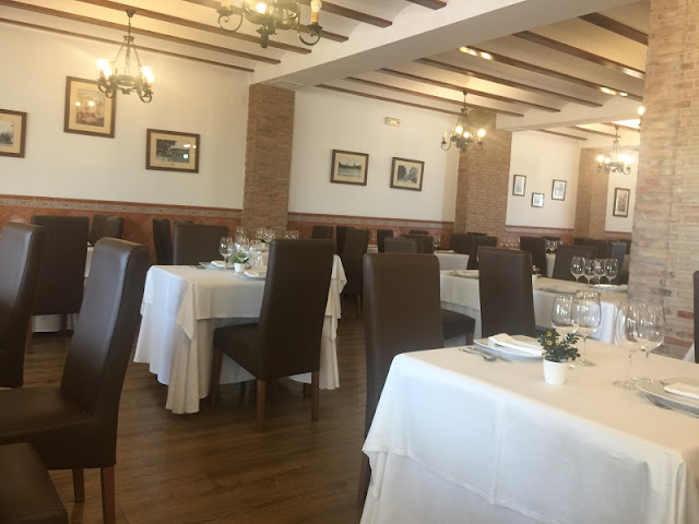 Comedor del restaurante casa Borras