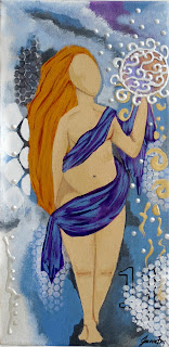 The Abundant Goddess Original Painting by Jeanne Fry Art