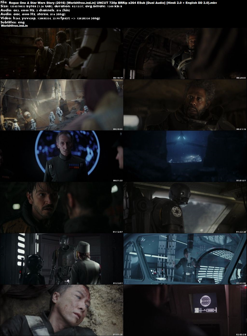 Rogue One: A Star Wars Story 2016 worldfree4u BRRip 720p Hindi English Dual Audio