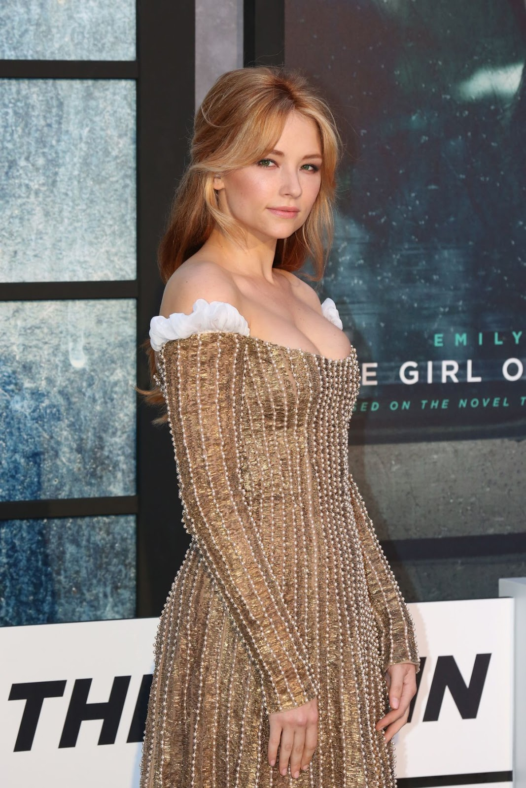 Halye Bennett Arrives at 'The Girl on the Train' Premiere in London