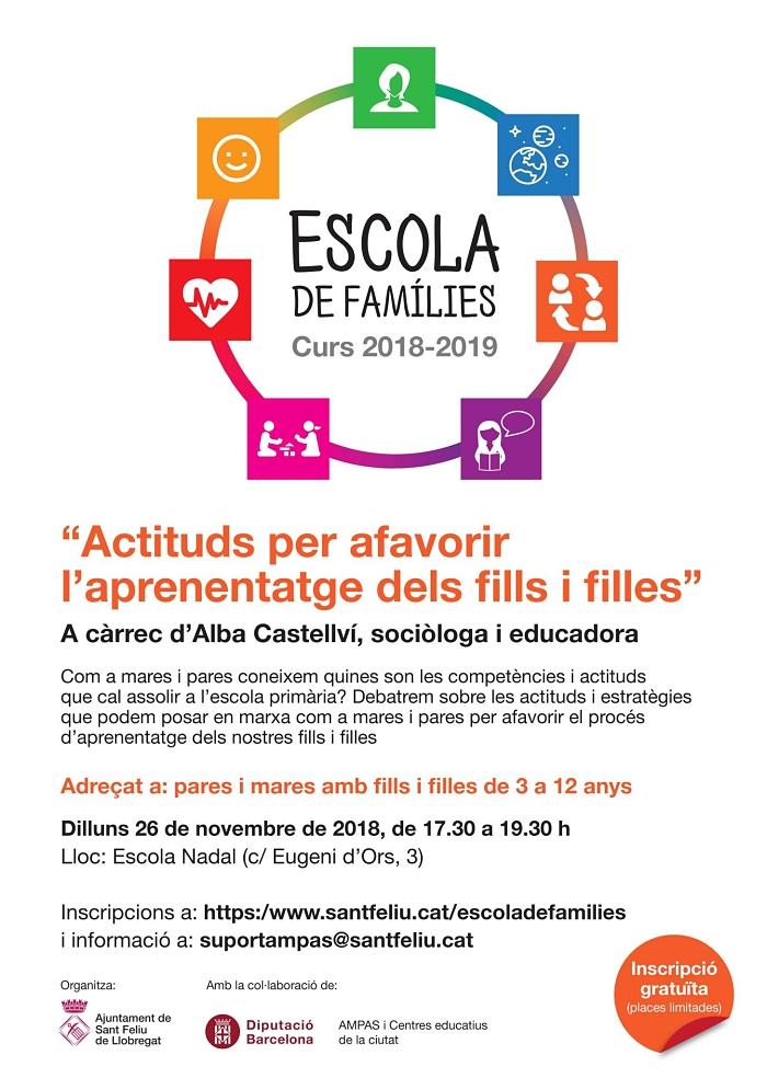 Imatge del cartell de l'Escola de Famílies
