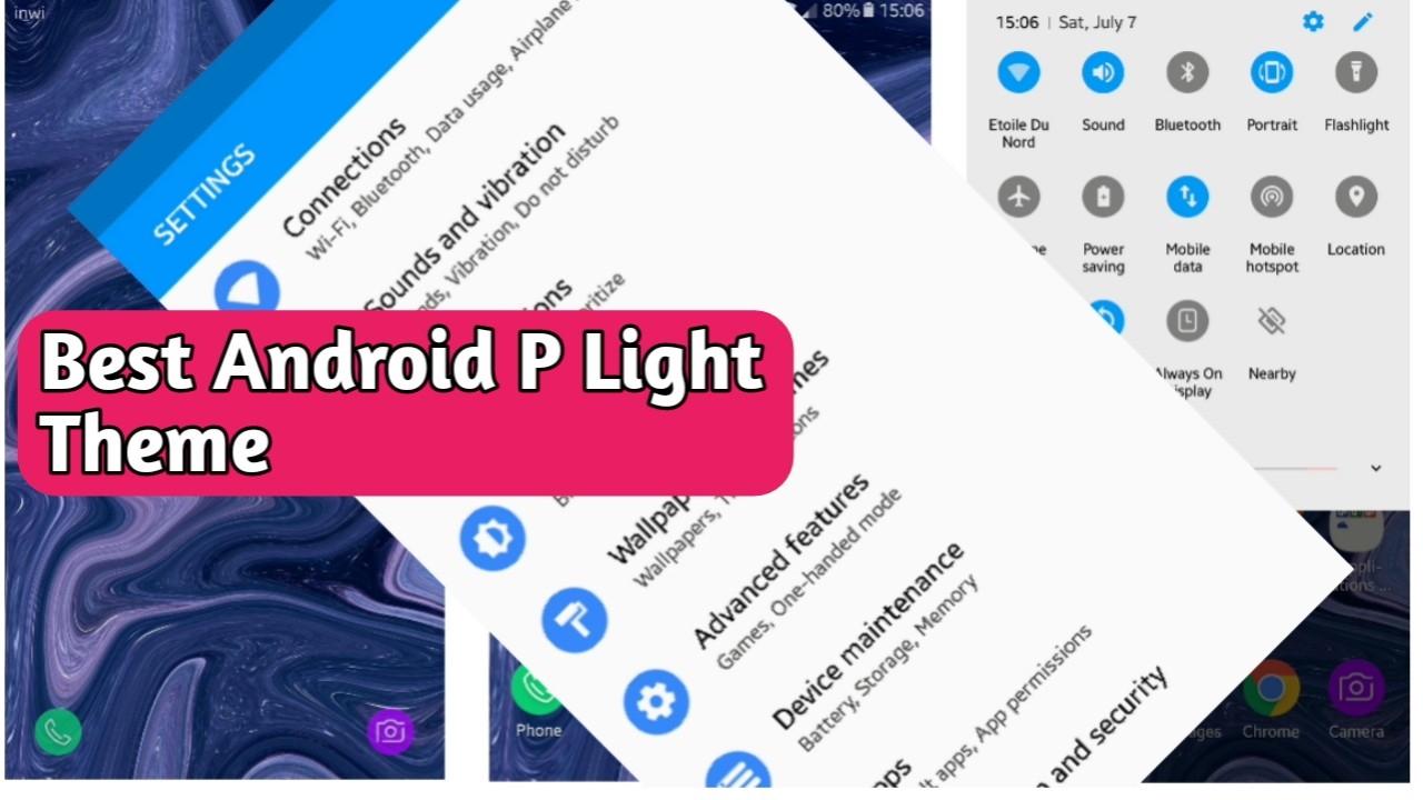 Best Android P Light theme for all samsung device