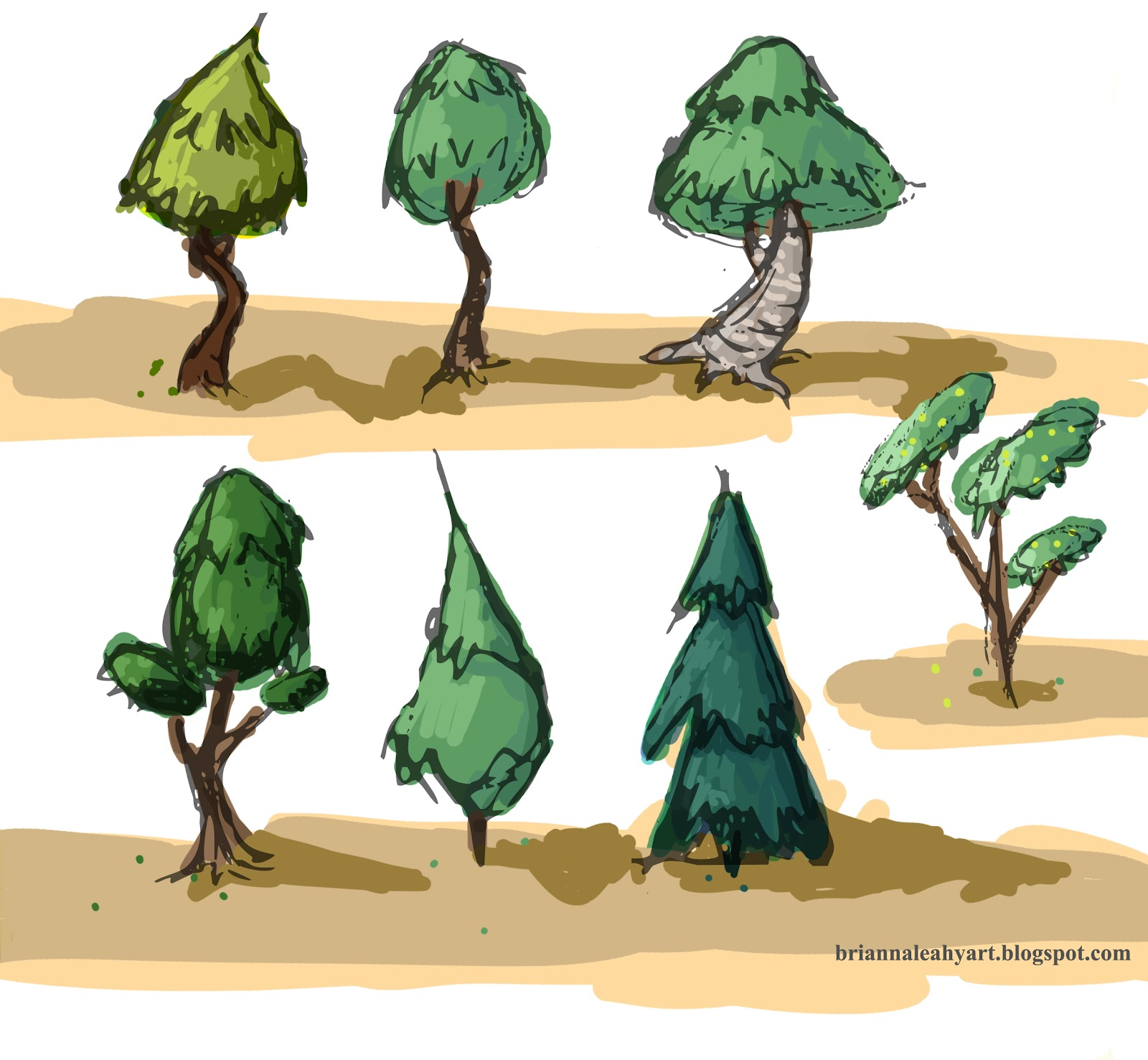 Art Adventures Blog Original Stylized Tree Designs For any size you provide, the whole design is included! art adventures blog blogger