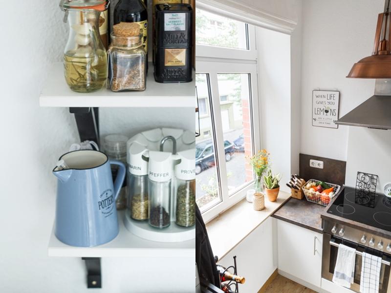 Wonderblue: Küche Industrial Style: Wenig Platz Optimal Nutzen