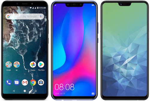 Xiaomi Mi A2 64G vs Huawei P Smart+ vs Oppo A3
