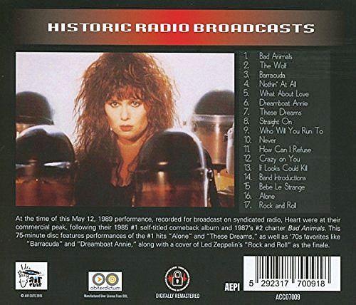 HEART - Legendary FM Broadcasts: Portland '89 [remastered] (2017) back