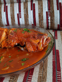 Tomato Grouper in Tomato sauce