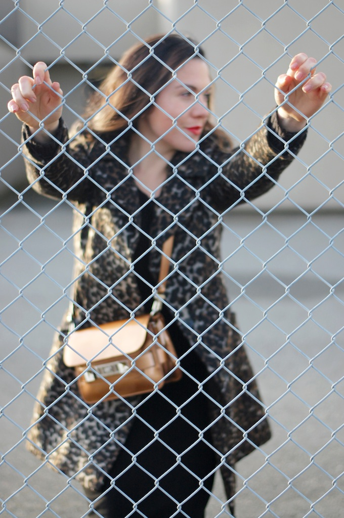 Le Chateau wool leopard coat Vancouver fashion blogger