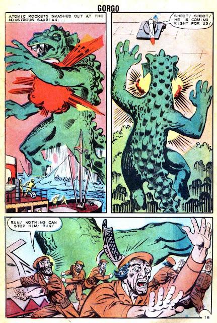 Gorgo v1 #14 charlton monster comic book page art by Steve Ditko